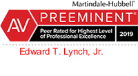 Martindale-Hubbell - Preeminent 2019 | For Ethical Standards and Legal Ability | Edward T. Lynch